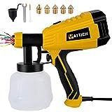 YATTICH Paint Sprayer, 700W High Power HVLP Spray Gun with 5 Copper Nozzles & 3 Patterns, Easy to...