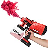 Battery Paint Sprayer Cordless Handheld Electric Power Spray Stain Gun Painter for House Car Fence...