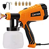 YATTICH Paint Sprayer, 700W High Power HVLP Spray Gun, 5 Copper Nozzles & 3 Patterns, Easy to Clean,...