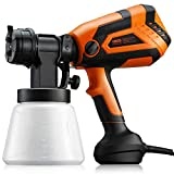 Paint Sprayer, Dr.meter 650W High Power HVLP Electric Spray Gun with 1000ML Container, 4 Nozzles,...