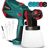 Scuddles Paint Sprayer, 1200 Watt High Power HVLP Home and Outdoors Includes 5 Nozzle, Lightweight,...