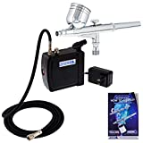 Master Airbrush Multi-Purpose Airbrushing System Kit with Portable Mini Air Compressor - Gravity...