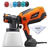 REXBETI 700 Watt High Power Paint Sprayer, 1000ml/min HVLP Spray Gun, with 6 Nozzles Sizes & 3...