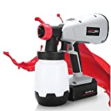 Cordless Paint Sprayer, 3 Spray Patterns Electric Paint Spray Gun with 1000ml Paint Container,...