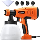 Dicfeos Paint Sprayer, Professional 700W HVLP Home Paint Spray Gun, with 1300ml Container, 4 Nozzle...