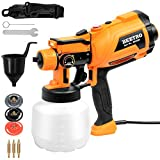 BEETRO High Power Paint Sprayer 3 Copper Nozzles 450ml/min 1200ml Container HVLP Electric Paint...