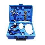 ROIKETU 2 Set HVLP Air Gravity Spray Gun Feed Car Paint Copper Nozzle 0.8mm and 1.4mm Nozzle...