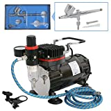Nouva Multi-Purpose Airbrushing System, Air Brush Kits Dual Action Air Compressor for Painting with...
